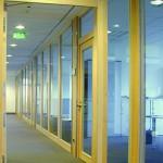 Bürotrennwand, Wandelemente in F30. Bürogebäude Schortens