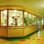 F30-Fenstertürelemente und Handlauf. Kinderklinik Oldenburg