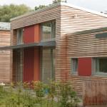 Holz-Fenster-Fassade. Uni Kita Oldenburg