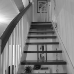 Treppenelement in vorhandene Konstruktion eingepasst.