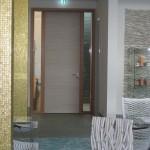 RS-Türelement als Fluchtwegtür und 2 verglasten Seitenteilen. Hotel Budersand Sylt