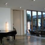 RS-Türelement mit Flügelhöhe 3,5m und  2 flächenbündigen Seitenteilen. Hotel Budersand Sylt