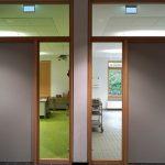 Massivholzrahmenelemente Klassenraum und Schulküche